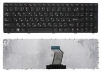 Клавиатура для ноутбука Lenovo Z560 Z565 G570 G770 черная с черной рамкой